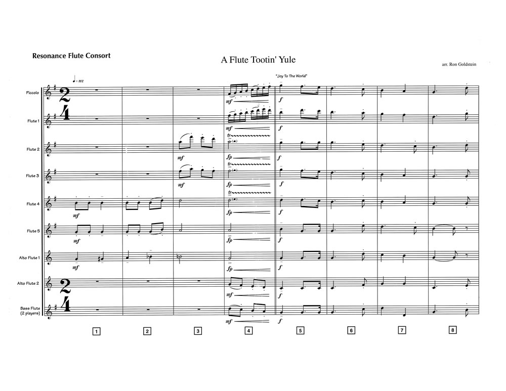 A Flute Tootin' Yule SCORE page 1