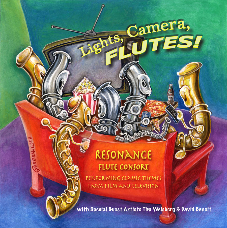 Lights, Camera, Flutes! Resonance Flute Consort. Performing classic themes from film and television. With special guest artists Tim Weisberg and David Benoit