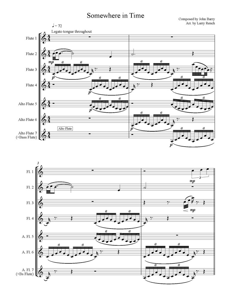 Somewhere in Time Score pg 1