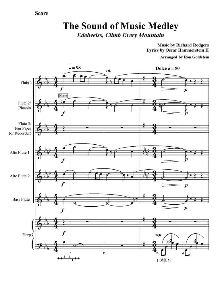 The Sound of Music Medley Score pg 1